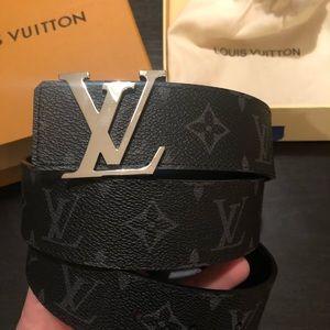 Men's Louis Vuitton Belt LV Print M9043 size 32